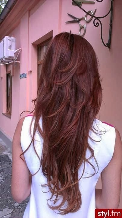 layered red hair