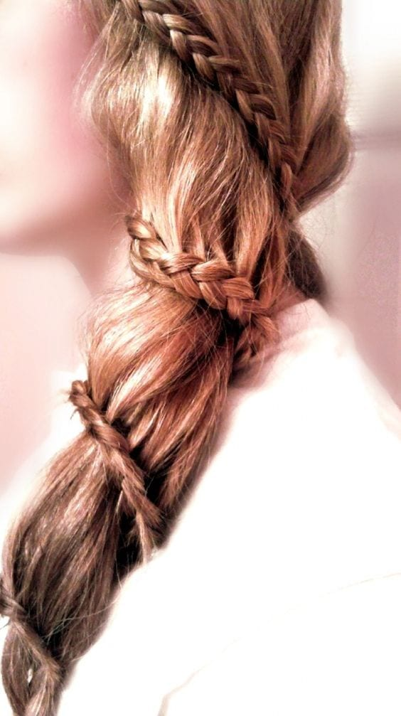 spiral braid side swept