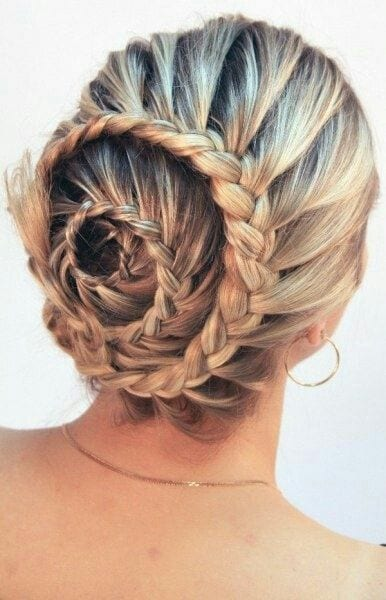 spiral braid with bun