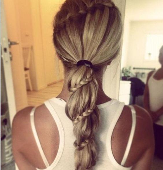 spiral braid with long hair