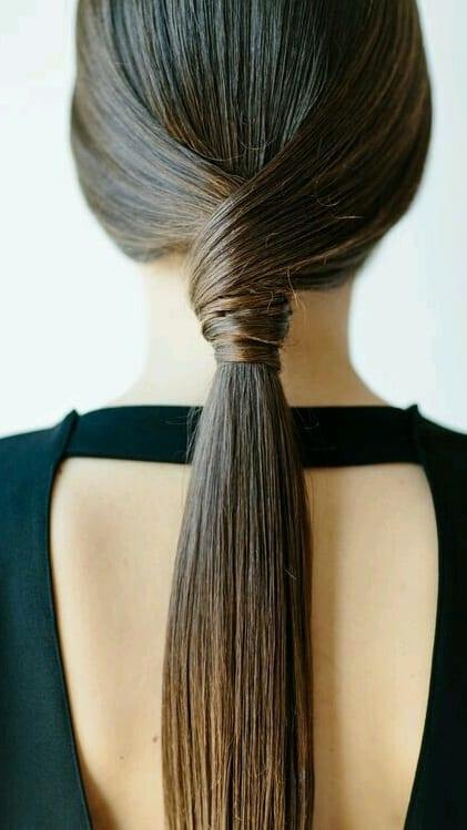 twisted ponytails