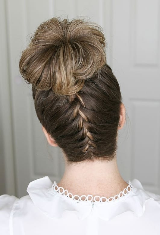 upside braid Updos