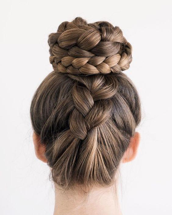upside braids