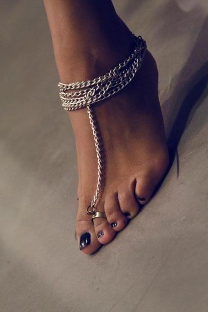 toe ring anklets