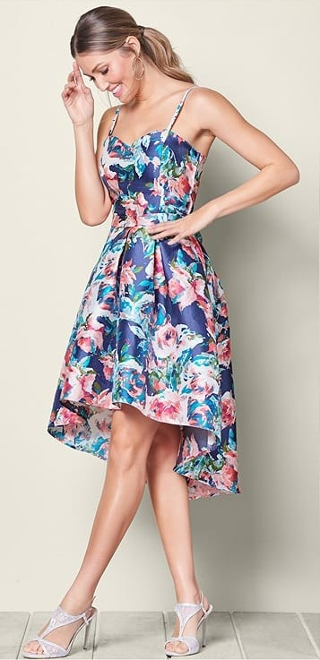 cocktail party floral outfit
