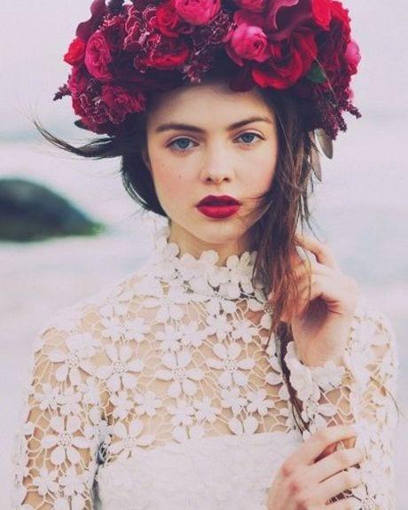 red rose- flower crown