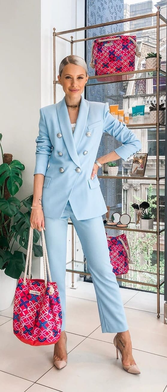 Pastel-Blue-Suit-Outfit-For-Women