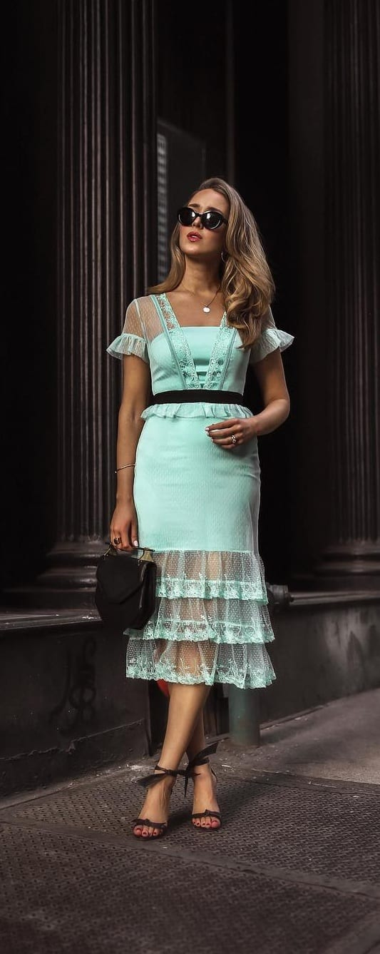 Mint Green Dress Outfit