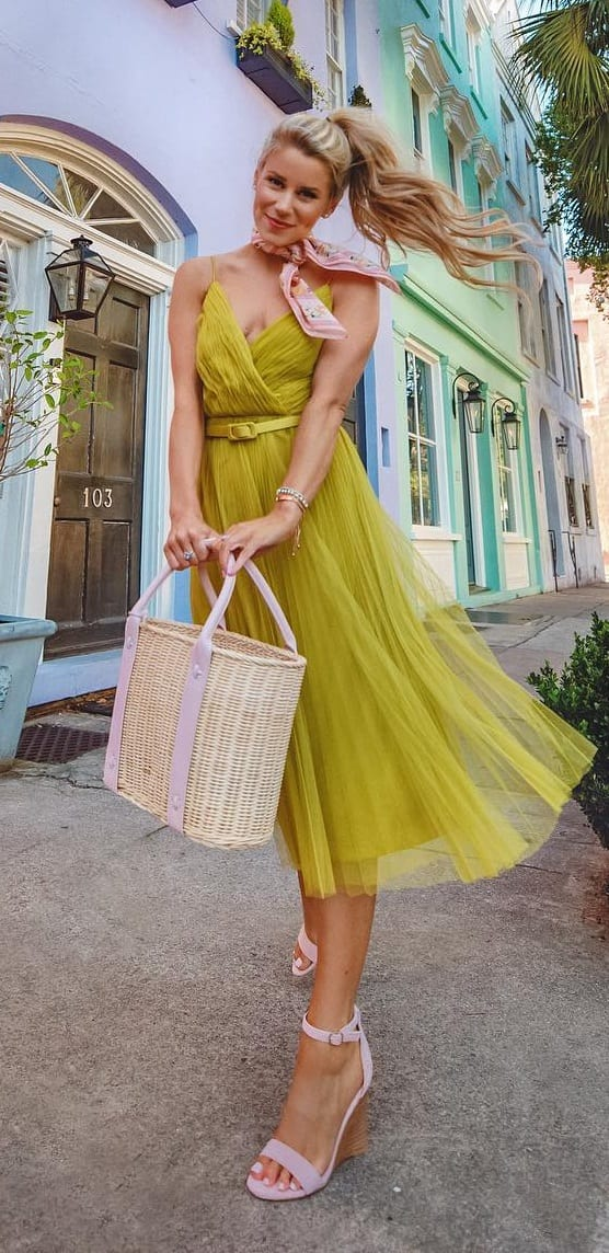 Pastel Green Dress Outfit