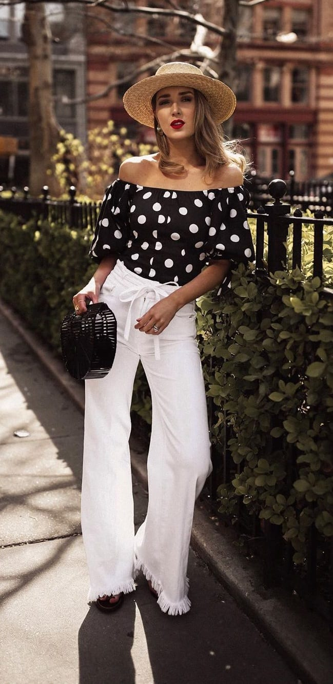 Monochrome Polka Dot Outfit for 2020