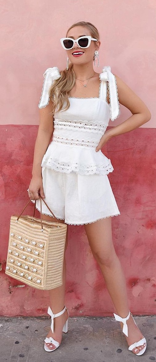 Cute and Chic White Outfit Ideas