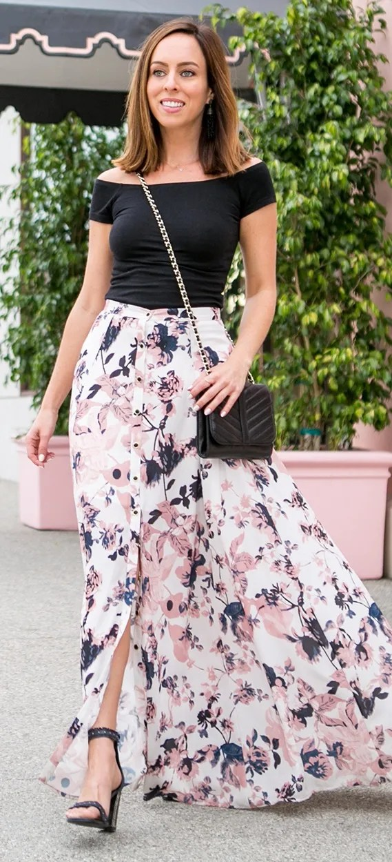 Flawless Maxi Skirt Outfit Ideas