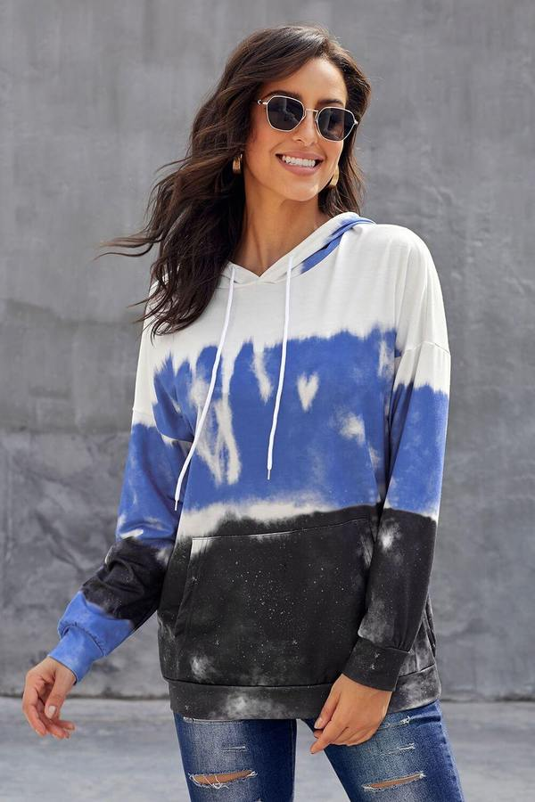Colorblock Tie Dye Pullover Outfit Ideas