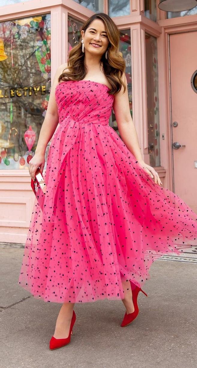 Cute Polka Dot Dress For Spring Wedding