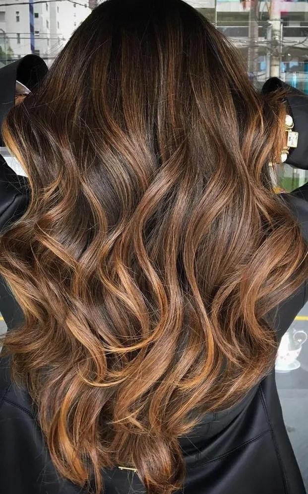 Luscious Long Caramel Hair color Ideas for Women