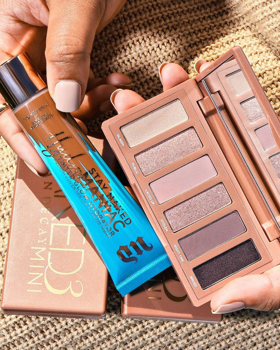 Urban Decay's BB Stay Naked Hydromaniac Tinted Glow Hydrator And Eyeshadow palette