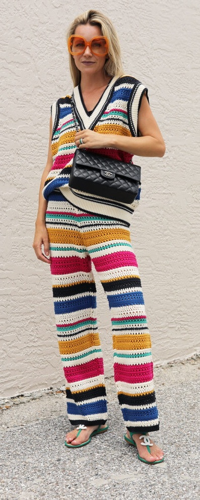 Cute Colorful Knit Set To Up Your Style Game This Season