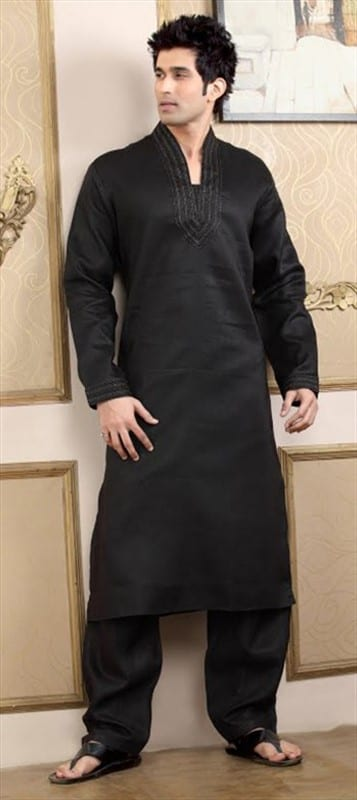 black pathani kurta