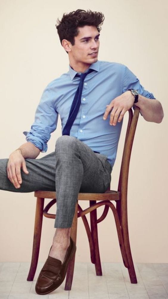 sockless loafers smart outfit