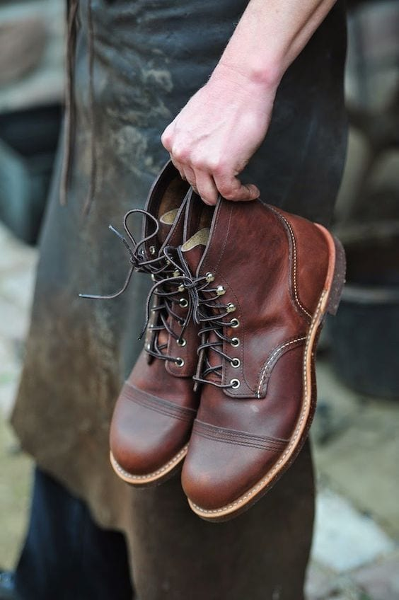 reddish brown fashion boots for men