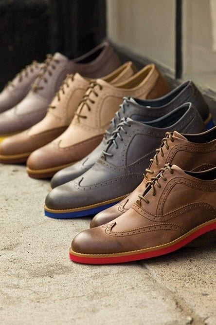 colored sole shoes for men