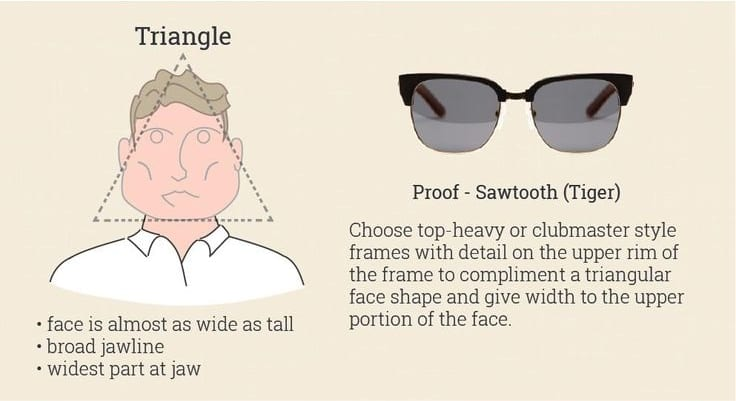 sunglasses for triangle face