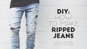 diy how to make your ripped jeans easily
