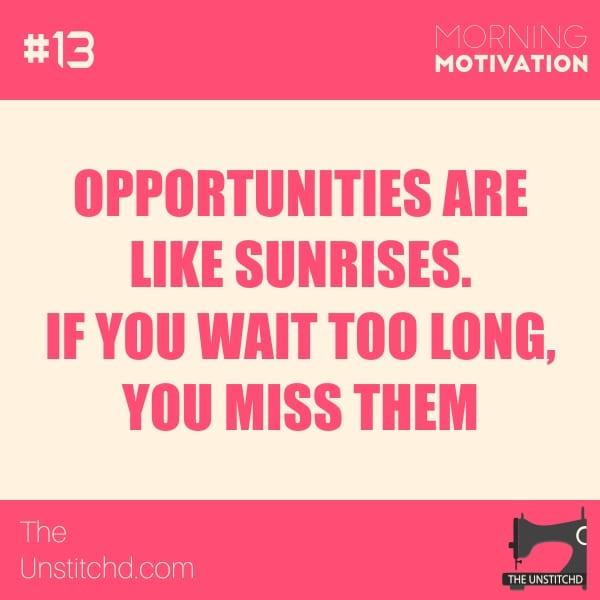 Morning Motivation #13