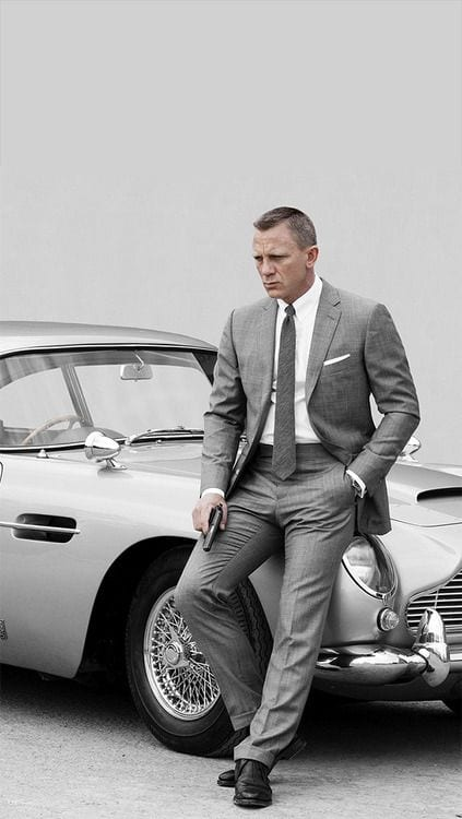 james bond grey suit look