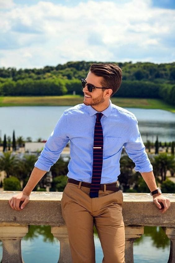 well fitted outfit for men