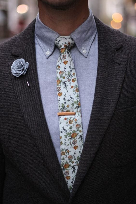 tie pins and lapel