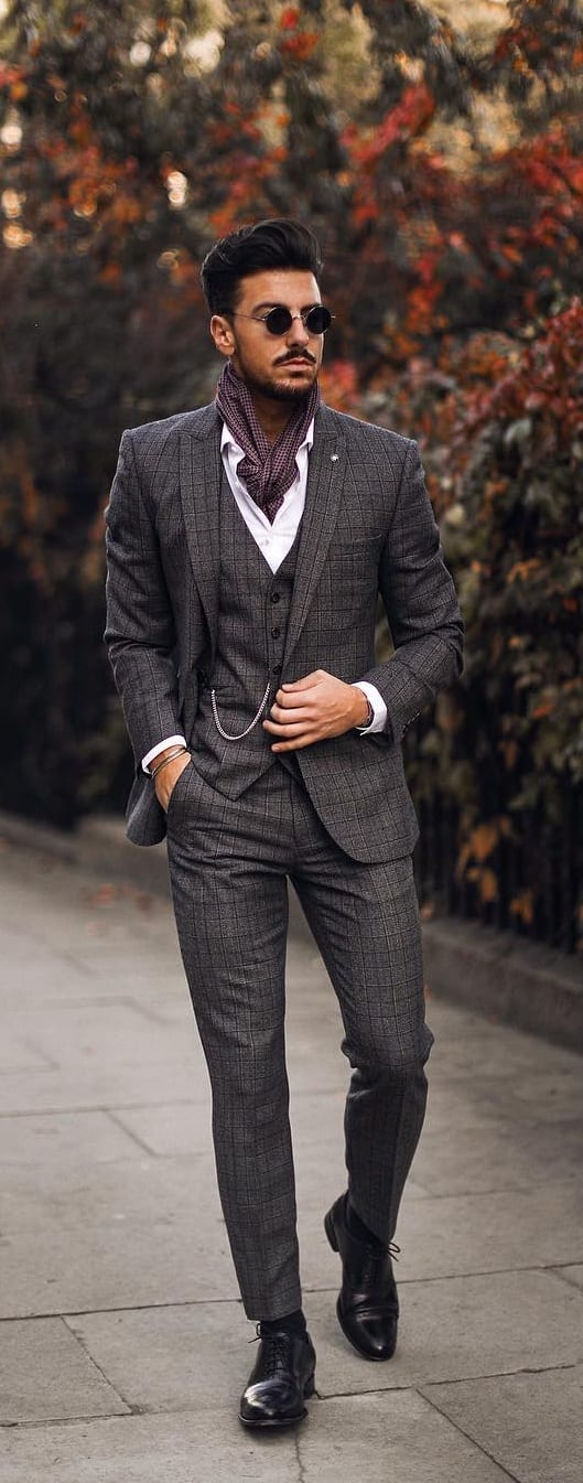 5 Must Have Suits For Men - charcoal grey suit