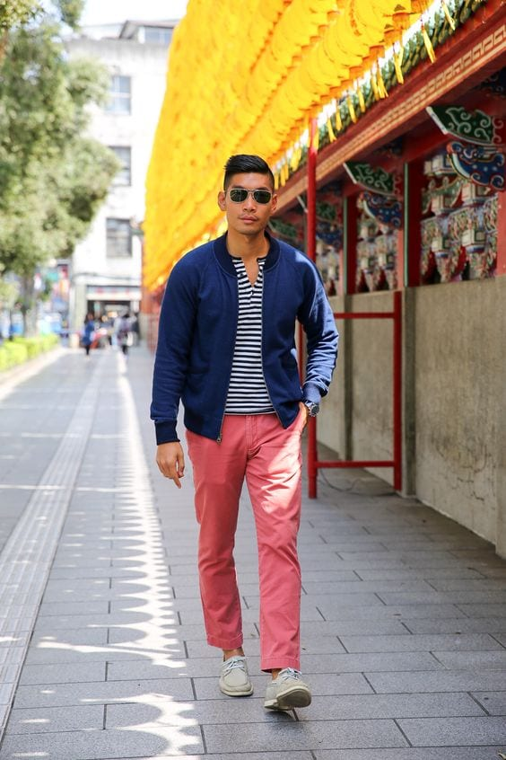 henley-pink-chinos-outfit-with-a-bomber-jacket