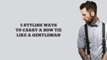 5 bow tie styles for men