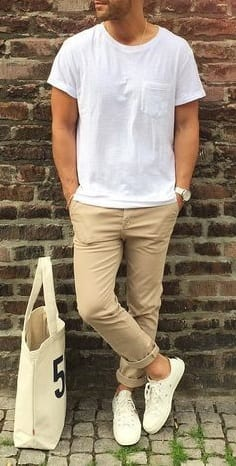 White Tshirt Outfit Men Best Fashion Blog For Men Theunstitchd Com