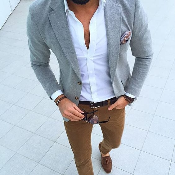 tan chino outfit