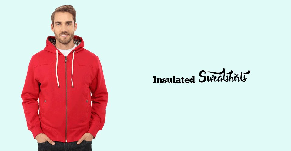 trendy insulated sweatshirt
