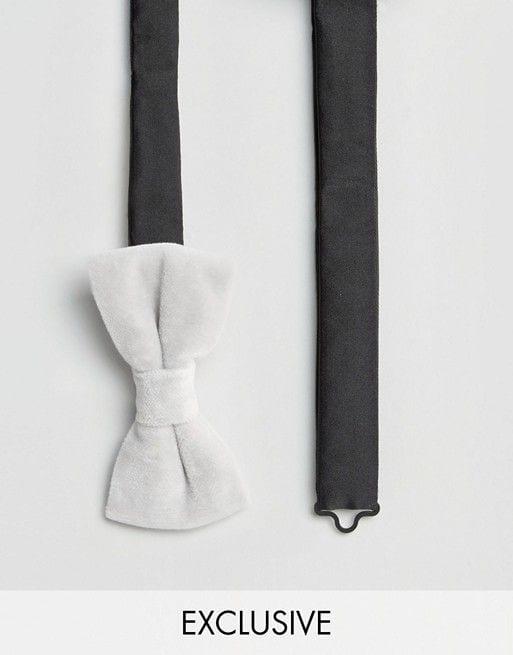 035ab1c8f639 White Velvet Bow tie for Men ⋆ Best Fashion Blog For Men ...