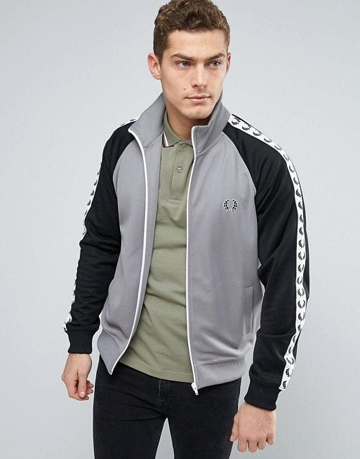 black and grey sports jacket for men