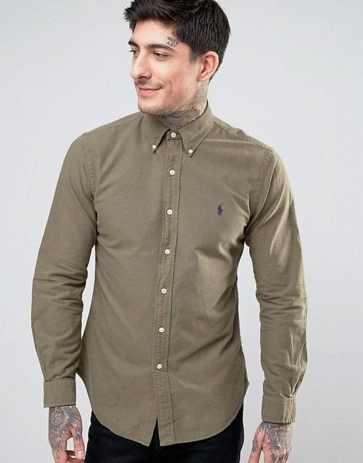olive green shirt for men