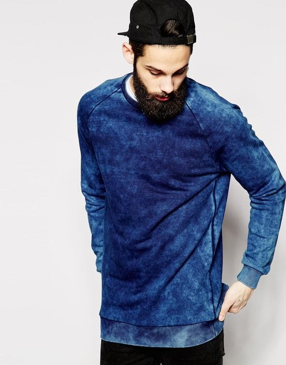 shades of blue colour sweatshirt