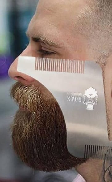 beard shaping steel comb