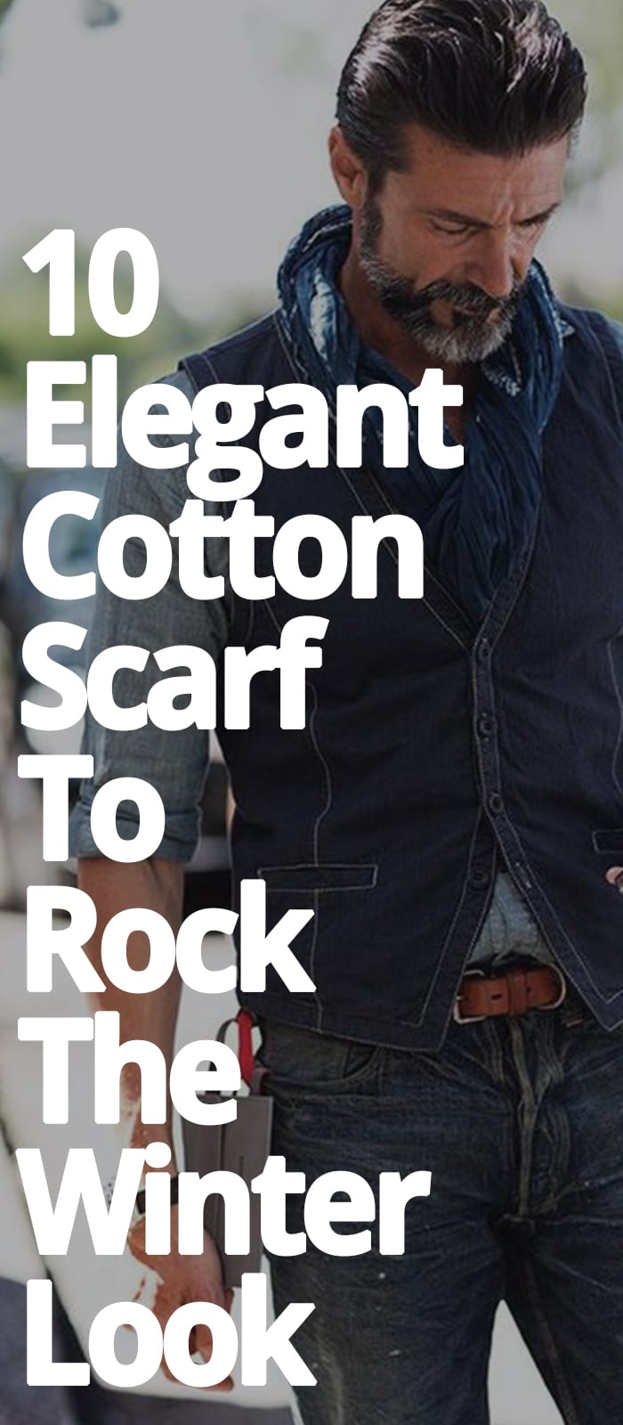 ELEGANT COTTON SCARF TO ROCK THE WINTER