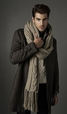 classy knit scarf for men