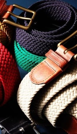 fabric belts for men