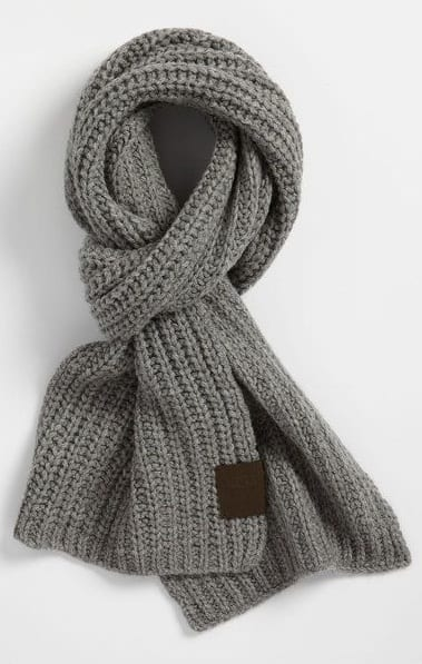 grey scarf for winter