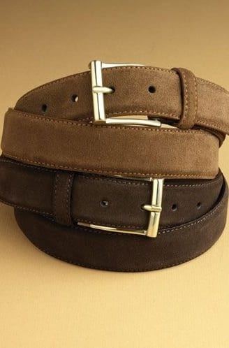 stylish suede belts