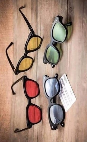 trendy coloured sunglasses
