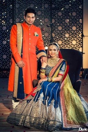 Indian ethnic for pre wedding photo shoot