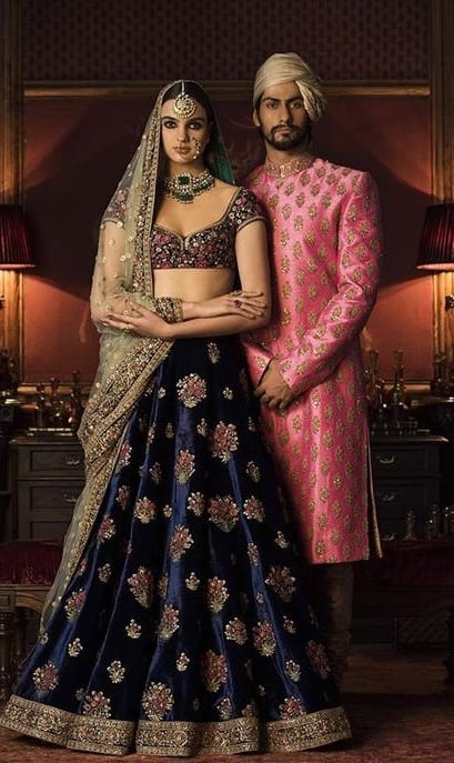 Lehenga and Sherwani for Sangeet